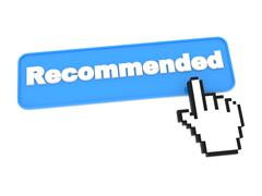 Web Button - Recommend. - stock illustration