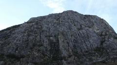 High Steep Rock Wall Stock Footage
