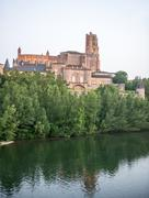 albi (france), cathedral - stock photo