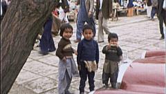 AFGHANI Children AFGHANISTAN Kabul Kids Shop 1980s Vintage Film Home Movie 7145 - stock footage