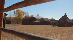 Rural landscape. old village. Taltsy Stock Footage