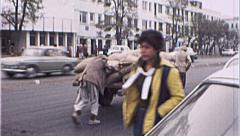 Men Cart Street Scene AFGHANISTAN Kabul War 1980s Vintage Film Home Movie 7146 Stock Footage
