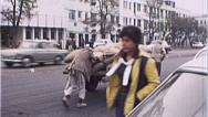 Stock Video Footage of Men Cart Street Scene AFGHANISTAN Kabul War 1980s Vintage Film Home Movie 7146