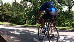 Ws - bikes and bikelane - central park nyc Stock Footage