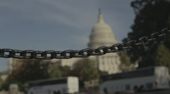US Capitol Gridlock chain - stock footage