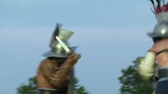Gladiator munus Hoplomachus Thraex 09 Stock Footage