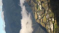 Timelapse of clouds passing the slopes of Tungurahua Volcano, Ecuador - stock footage