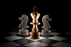 Intrigues (lonely king). Stock Photos