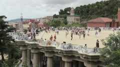 Barcelona Parc Guell #2 Stock Footage