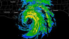 Hurricane Isaac (2012) Landfall Time Lapse - stock footage