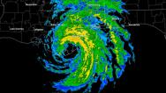 Stock Video Footage of Hurricane Isaac (2012) Landfall Time Lapse