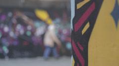 Bristol Graffiti02.mp4 Stock Footage