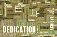 Dedication Stock Illustration