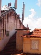Awkward roof, Lisbon Stock Photos