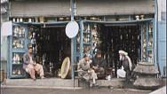 Stock Video Footage of Shop Silver Merchants Bazaar AFGHANISTAN 1980s Vintage Film Home Movie 7148