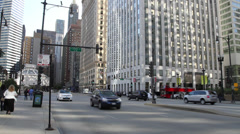 Chicago Traffic - State Street Stock Footage