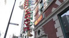Harry Caray Signage Stock Footage