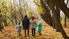 Family In The Park Stock Footage
