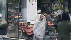 Shopkeeper KABUL AFGHANISTAN Pre War City 1980s Vintage Film Home Movie 7150 Stock Footage