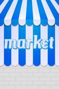 Stock Illustration of market awning