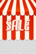 sale awning - stock illustration