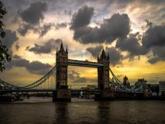 London Towerbridge 12.10.2013 Stock Footage