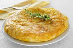 tortilla de patatas, spanish omelet - stock photo