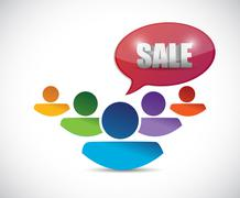 Sale message and people. illustration design Stock Illustration