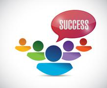 Success message and people. illustration Stock Illustration