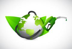 Eco gas oil, power and energy concept. green Stock Illustration