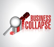 business collapse sign illustration design - stock illustration