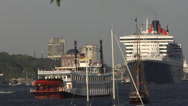 Stock Video Footage of Grand Departure parade of Hamburg port anniversary