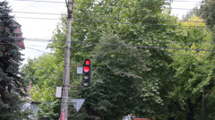 Semaphore - traffic light sequence Stock Footage