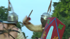 Gladiator munus Secutor Secutor 05 Stock Footage