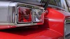 Flashing fire engine lights - stock footage