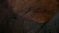 Stone spiral staircase in the tower of the church. Stock Footage