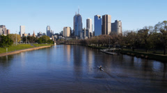 Yarra river Stock Footage