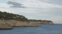 Coastline of Majorca at Samarador National Park  Stock Footage