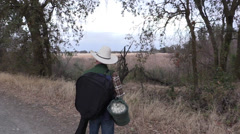 Cowboy, hitting the road Stock Footage