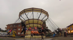 Chairoplane On Fair - stock footage