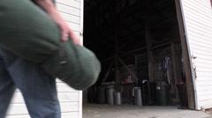 Cowboy, hand gestures Stock Footage