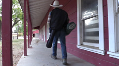 Cowboy, at the bunk house Stock Footage