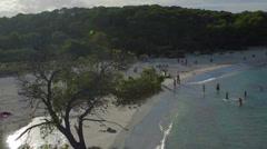 Samarador beach lens flare HD Stock Footage