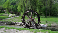 Stock Video Footage of Water wheel in the river