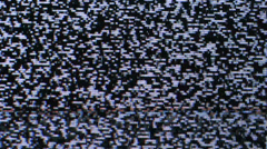 TV screen with no signal and white noise or static snow noise Stock Footage