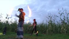 Jester Fire Dancing 1 Stock Footage