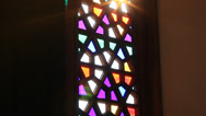 Stock Video Footage of Stained glass window
