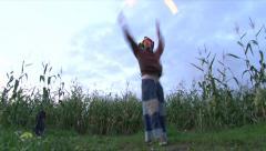 Jester Fire Dancing 2 Stock Footage