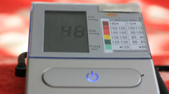 Portable device of measuring blood pressure Stock Footage