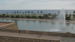 Palma de Mallorca waterfront composition Stock Footage